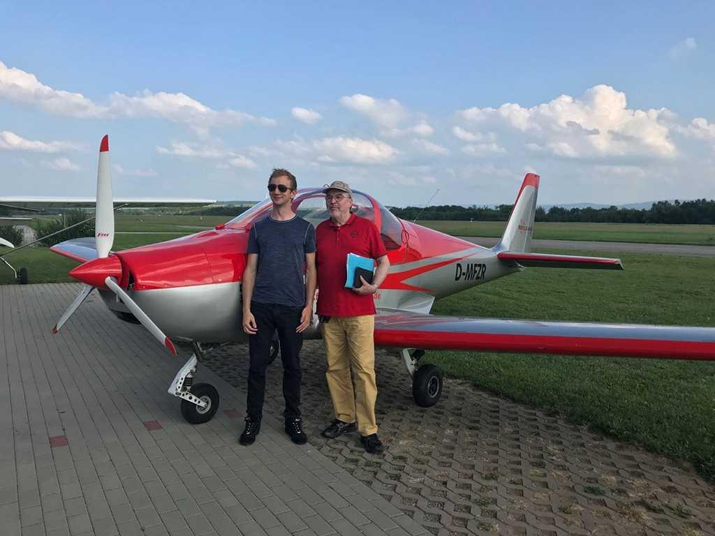 Denis Flugprüfung Flugschule Kindel Eisenach